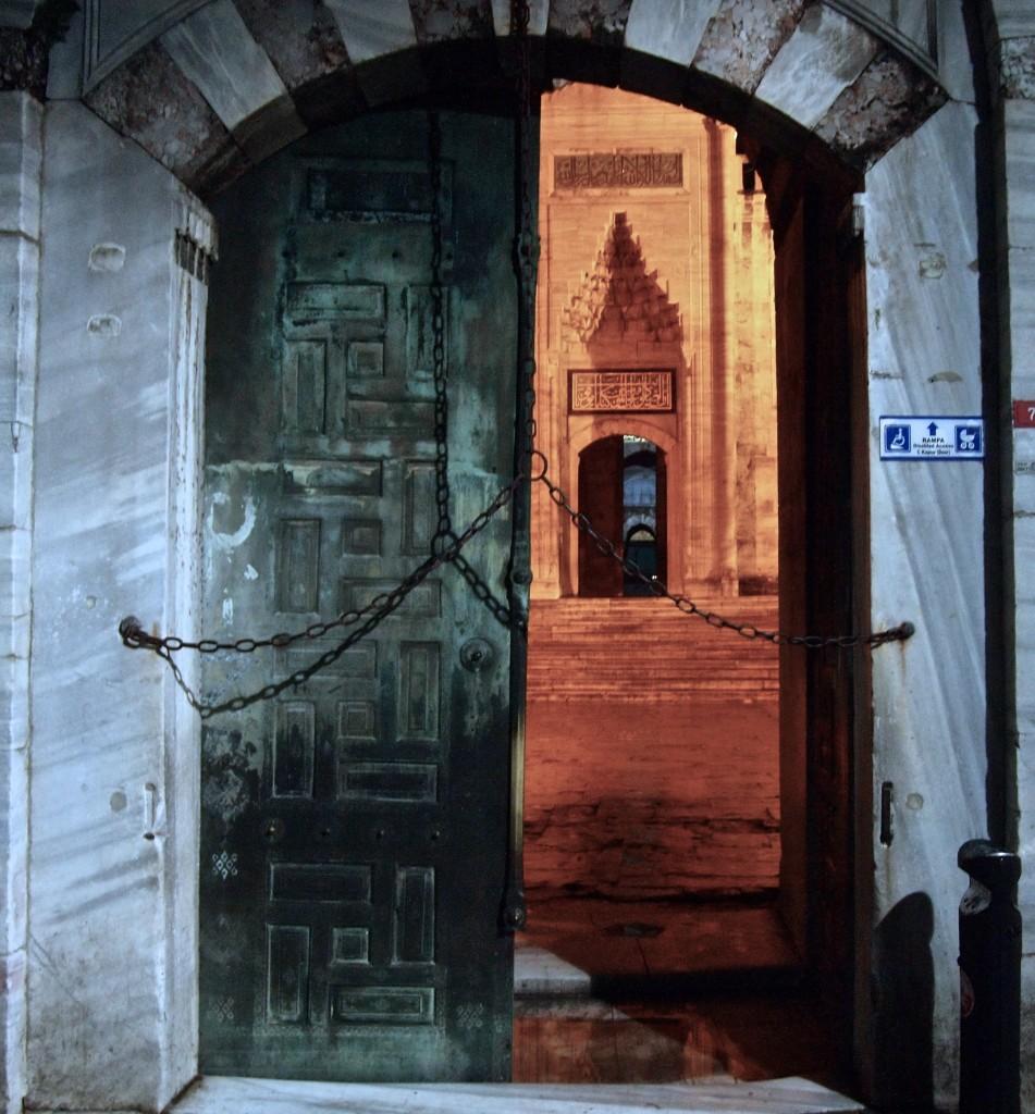 Sultan Ahmet Mosque Door Istanbul